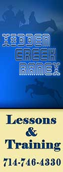 Hidden Creek Ranch ~ Lessons & Training in Orange County CA