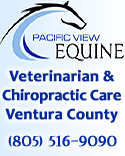 Pacific View Equine ~ Veterinarian ~ Chiropractic ~ Ventura County ~ Dr. Clint McKnight ~ �Mobile Chiropractic ~ canines ~ veterinary field services ~ horses