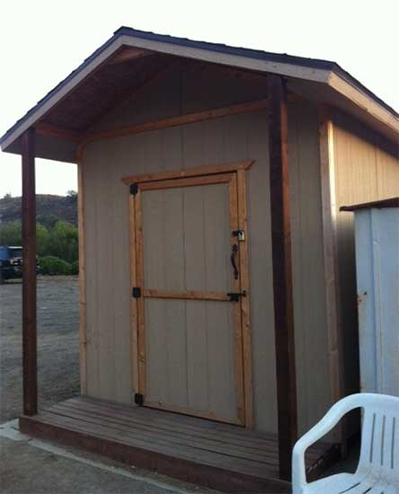 For sale ~ Beautiful custom built tack shed: 8x8x10 with a front porch, less than 2 years old.
