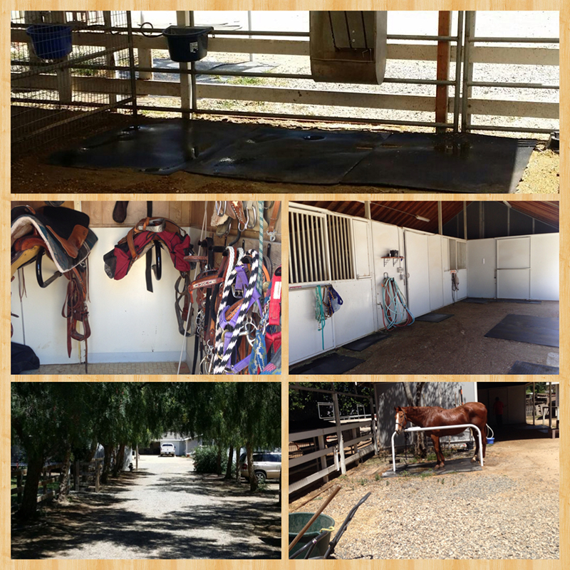 Horse stall available on private property. We live here, so there is someone here to keep an eye on your horse.  Orange County
